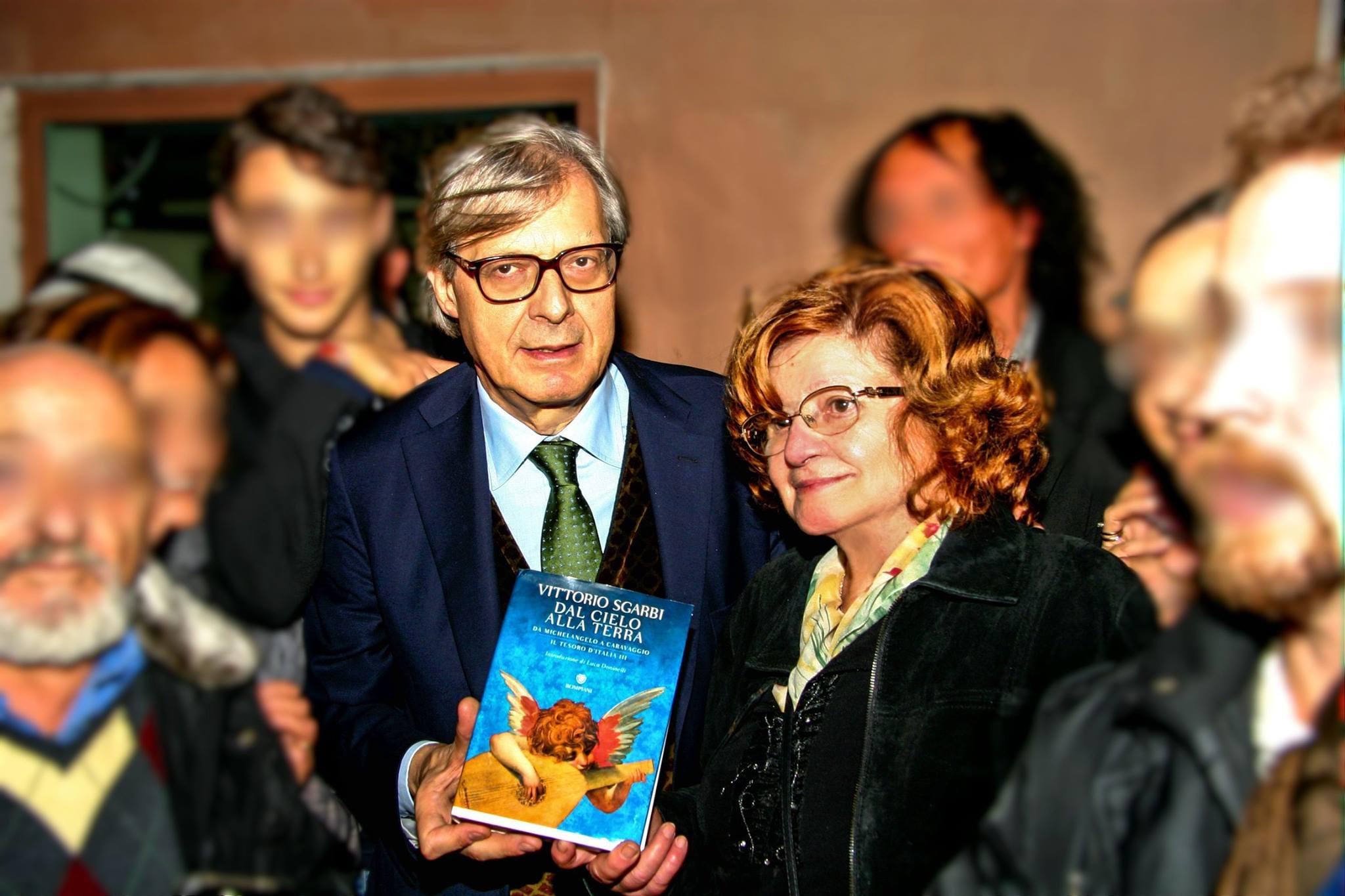 Iginia Bianchi con Vittorio Sgarbi
